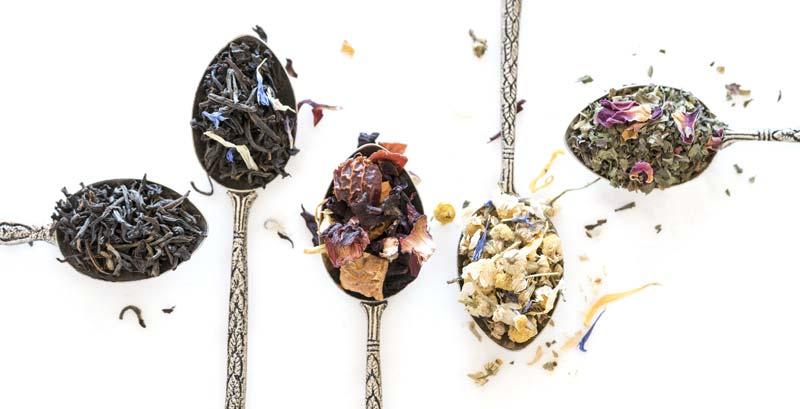 tea on spoons