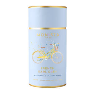 French Earl Grey Light blue tea canister
