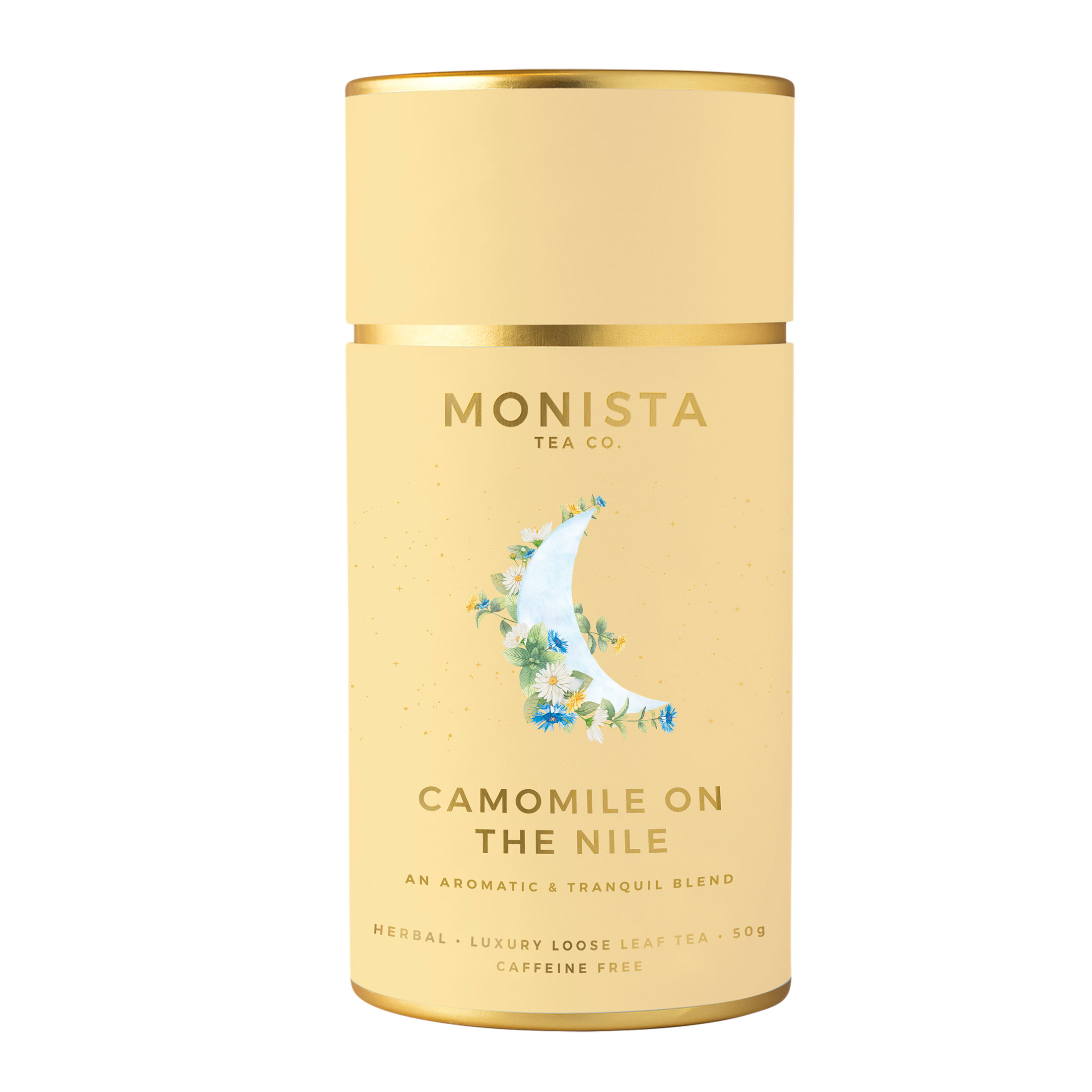 Camomile tea yellow canister