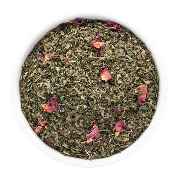 peppermint tea in bowl