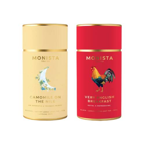 two tea canisters