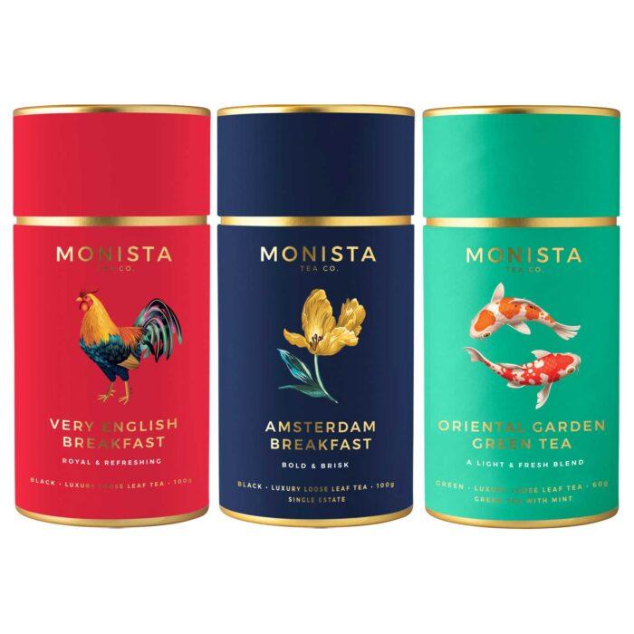 3 Monista tea canisters