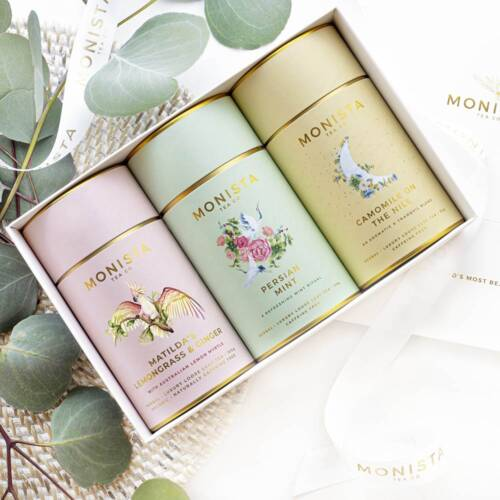 The herbal tea collection in a gift box
