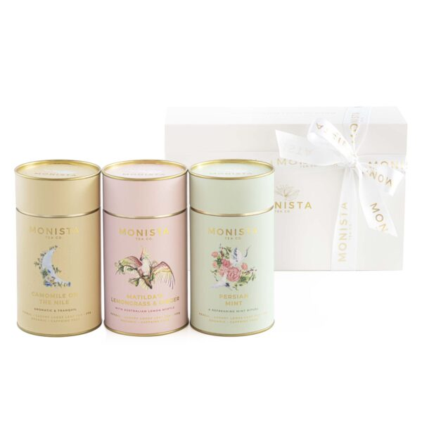 Camomile, Lemongrass and Ginger and Peppermint tea in a gift set