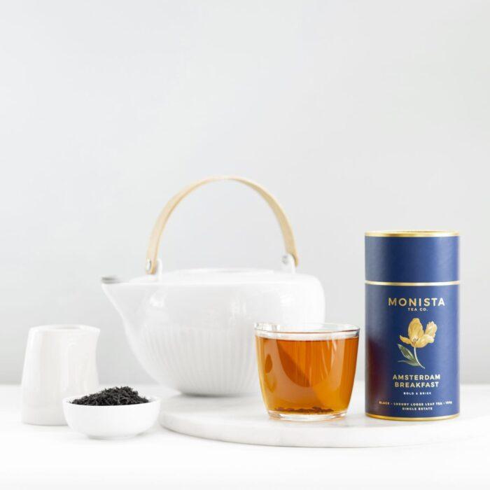 Amsterdam Breakfast tea with Teapot