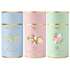 Earl Grey, Peppermint and lemongrass and ginger tea