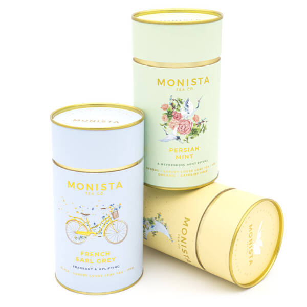 french earl grey, persian mint and camomile tea gift set