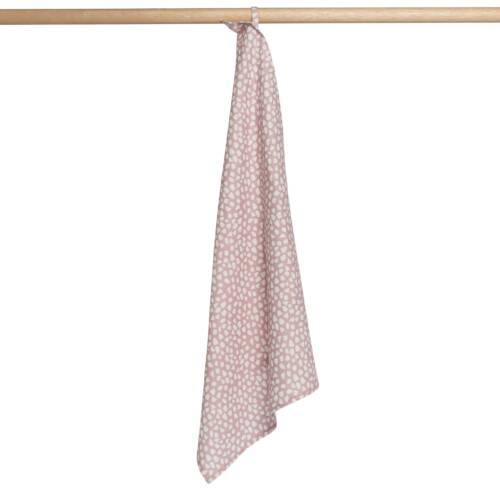 Cotton Tea Towel hanging from wood