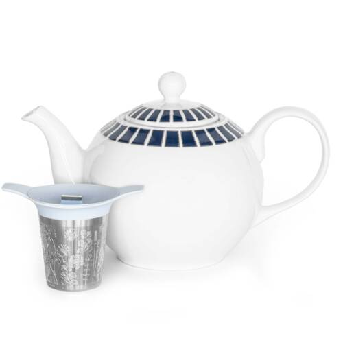 teapot with basket infuser